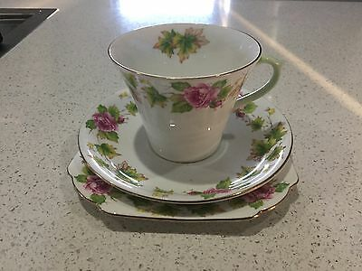 Shelley Bone China Trio Made In England