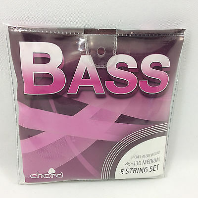 Bass Guitar 5 String Set Medium Gauge 45 - 130