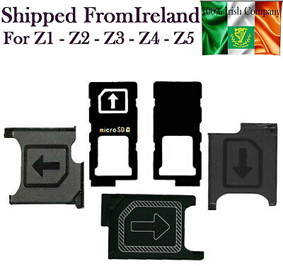 For Sony Xperia Z1 Z2 Z3 Z4 Z5 Micro Sim Card Tray Holder Adapter Slide Holder