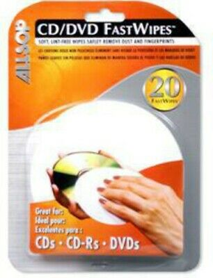 """Allsop """"Fastwipes"""" CD Cleaning Cloth/Pack of 20 - Accessories"""