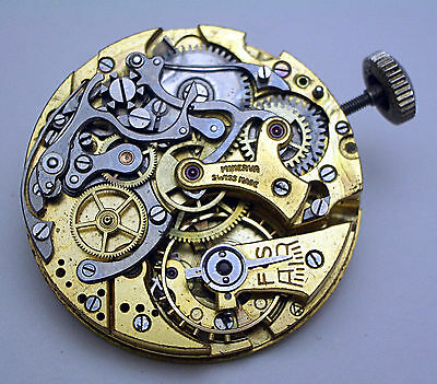 Awesome 1940s MINERVA Caliber 20CH Chronograph Movement for Parts/Repair!!
