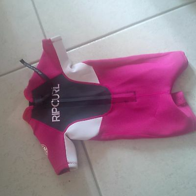 rip curl pink wetsuit size 2 girls