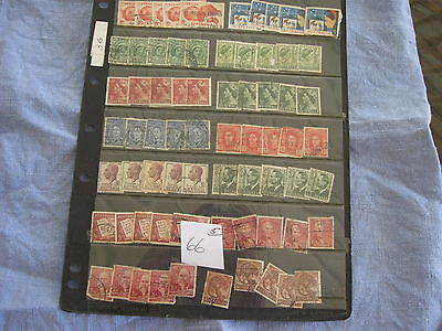 BULK LOT 5 PAGES USED AUSTRALIAN STAMPS. ALL OFF PAPER. Lot 66  CHECK SCANS.