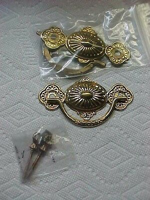 2 Eastlake   Stamp Brass   Drawer Pulls Handles