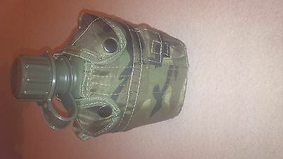 Camo water bottle with belt carrier