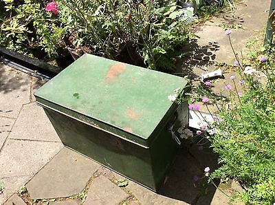 Large Vintage Industrial Metal Trunk/chest Shop Fittings