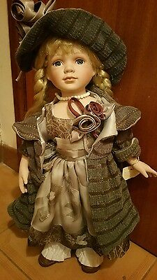 Large Porcelain Collectors Doll Diana