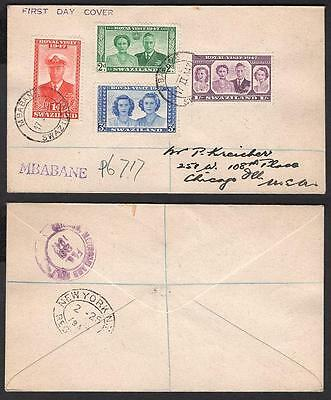 #44-47 Royal Visit 1947 issue, February 17 1947 Mbaban Registered FDC