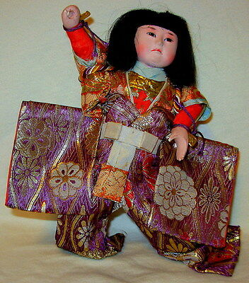 Vintage Gofun Asian Oriental Japanese Hina Doll