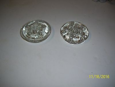2 Clear Glass Flower Frogs (11 holes)