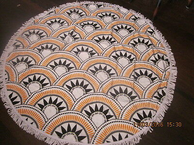 Round Beach Towel (Ovi Branded) 100% Cotton - Quality Made - RRP $110
