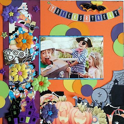 12 x 12 Handmade Scrapbook Page - Trick or Treat