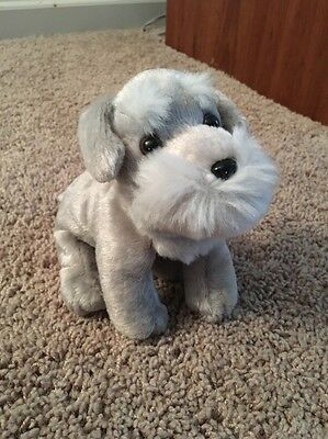 "New NWT Puppy Dog Passion Scruff The Schnauzer 6"" Beanie Plush Bestever Gray"