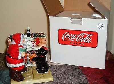 Coca-Cola Collectible Holiday Portraits Salt & Pepper Shakers