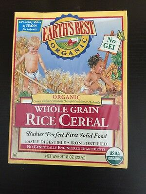 Earth's Best Certified Organic Whole Grain Rice Cereal 8oz
