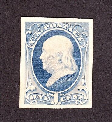 US 206P4 1c Franklin Proof on Card XF SCV $20 (-001)