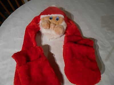 Santa Combi Hat Scarf And Mits