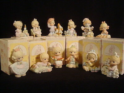 t Precious Moments-RARE-Complete 12 Days Of Christmas Set w/boxes