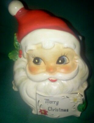 Vintage Josef Originals Santa Christmas Card Napkin Letter Holder Japan