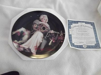 """""""Relaxed Elegance""""  Beautiful MARILYN MONROE with guitar Collector Plate w/COA"""