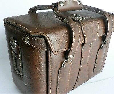 Vintage Camera Case Bag Brown Made in USA Hard Side Case
