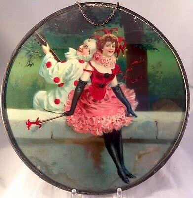 Pierrot And Pierette Flue Cover Kitchen Stove Pipe Clown Masquerade Party