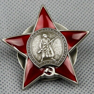 WW2 WWII beautiful CCCP SOVIET RUSSIAN COMBAT ORDER OF THE RED STAR OP