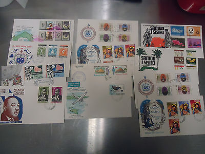 Samoa  First Day Cover Collection X 12 Covers From 1960's  Lot S2