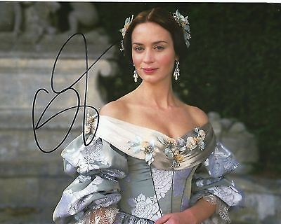 Emily Blunt hand signed 8x10 photo, with COA