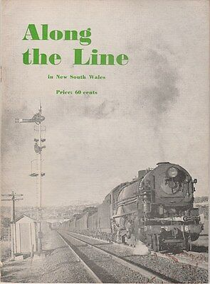 1966 Along the Line in NSW AUSTRALIAN STEAM TRAINS Great illustrations SCARCE