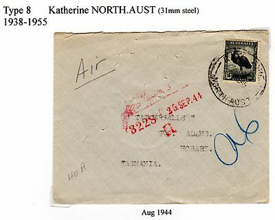 1944 Airmail cancelled Katherine North Aust to Tattersall