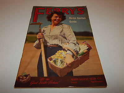 Vintage Ferry Morse Seed Co. Ferry's Home Garden Guide catalog 1948