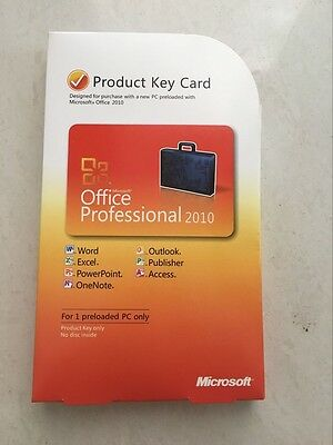 Microsoft Office Professional 2010 32/64-Bit With Download For 1 PC