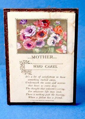 Vintage (1947) card with verse for a mother