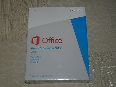 Microsoft Office Home And Business 2013 32/64-Bit With Download For 1 PC