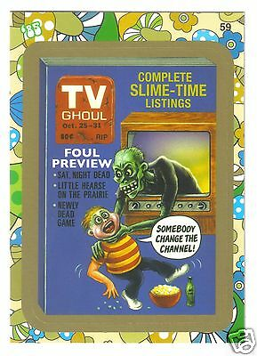 2008 Wacky Packages Flashback 2 Gold Border Card#59 TV Guide Ghoul Halloween NM!