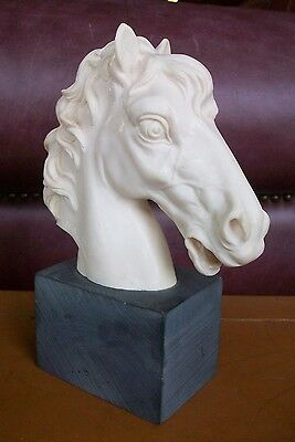A. Santini Signed Horse Head Sculpture Made In Italy