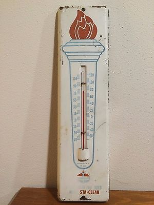 Vintage Standard Oil Heating Sta Clean Torch Advertising Thermometer Gas Station