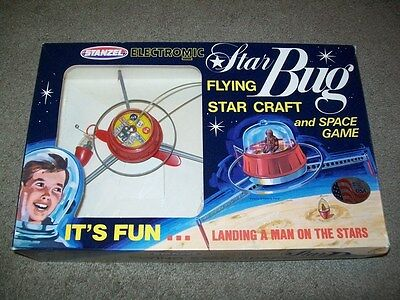 Vintage  1960/70 's  Stanzel  Star Bug-Flying  Star  Craft  And  Space  Game