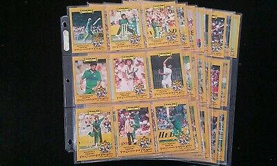 Scanlens Cricket Cards 1986/87 Clashes For The Ashes Complete Set 66 Excellent!