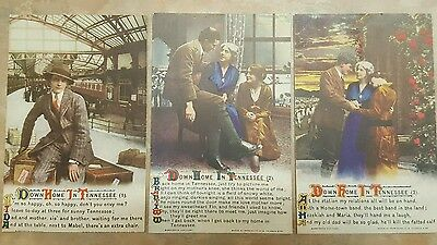 #4953 Series Set Of 4 WW1 Bamforth & Co LTDSong Postcards Down Home In Tennessee