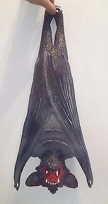 "Scary Halloween Prop Hanging Foam Rubber Vampire Bat Dracula 22"" Decoration"
