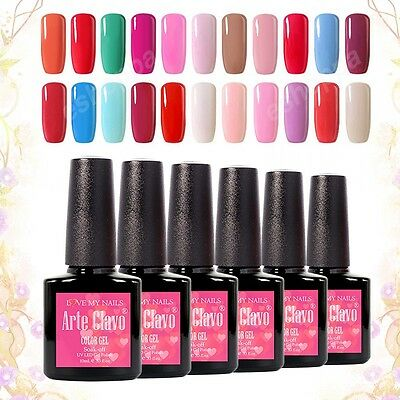 Arte Clavo Soak Off Nail Gel 220 Colors Polish UV LED Lamp Base Top Coat 10ml