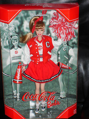 Coca-Cola Barbie Doll (Cheerleader) MIMB Pop Culture Collection Tissued Box