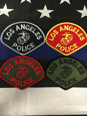 NEW Special Edition LAPD USMC Marine Corps Los Angeles Police Patch