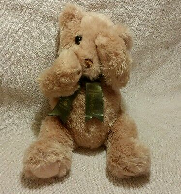 **RARE** Harrods Teddy Bear w Bow,MAGNETS Paws Mouth Head,Plush Beige,Peek A Boo