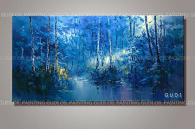 GUDI- Large modern hand-painted oil painting abstract art decoration Unframed