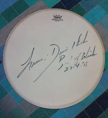 Drummer Dennis Chambers Autographed Snare Head 1998