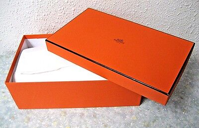 """Authentic HERMES empty paper gift shoe box, size 11.25"""" x 6.5"""" x 3.8"""" Inches"""