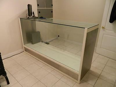 Glass Display - Used - Good Condition - Retail - Custom Made - Stainless Steel